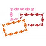 Large writable stickers Fleur-De-Lis 30 pcs