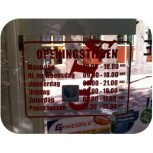Opening Hours Sticker